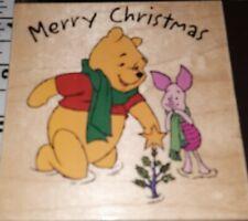 Winnie pooh,Disney, pooh & piglet merry xmas,all night media, 281,rubber , wood