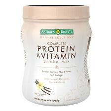 Nature's Bounty Complete Protein & Vitamin Vanilla Bean 16oz 074312508752DT