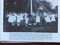 f1l ephemera reprint picture mansfield manor farm maypole dancing 1922