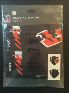 Cincinnati Bengals YOUTH SIZE Licensed 2 Pack Face Mask Covering - 50% Off SRP!