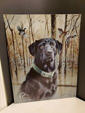 Ducks Unlimited Black Lab Labrador Great Retrievers Duck Hunting Tin Metal Sign