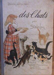 """"""" DES CHATS par STEINLEN,"""" Edition Originale 1898"""