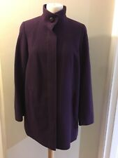 Ladies Marks & Spencer Classic Wool Rich Coat/jacket, Size 12, Grape,NewRRP £69