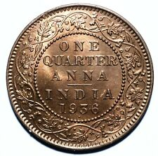 1936 India - British One Quarter 1/4 Anna - George V - Lot 1144