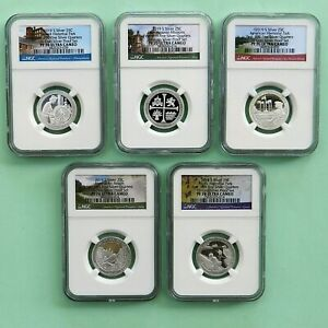 2019-S  Silver 25C, NGC PF 70 Ultra Cameo From 10-Coin Silver PF Set, (5 Coin)