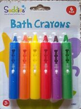Bath Crayons Non Toxic Fun Colours Toy Washable Wipe Clean Ages 3 Years