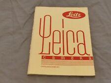 GENUINE ORIGINAL LEITZ  LEICA GENERAL CATALOGUE FOR 1931