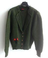 Señora Trachten soga janker chaqueta verde m. bordado talla 48 V. Arber