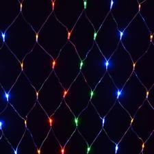 AC 180 Multicolour Curtain Net LED Bulb Multi-Action Christmas Light Indoor Outd