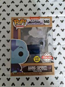 Funko Pop Aang Spirit GITD MINT 940 Avatar Last Airbender Glow Dark Vinyl Figure