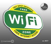 """Cartello adesivo BIG  """"Wi-Fi Free - Hot Spot gratuito""""  Free Internet Access"""