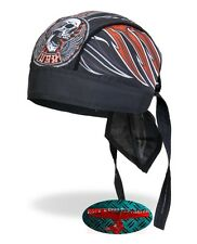 SKULL Stitches Bandana Kopftuch Headwrap Biker Chopper Cap Biker Harley Tribal