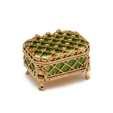 FABERGE LTD EDN DIAMOND SET 18CT GOLD BOX ON STAND