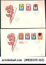 HUNGARY - 1962 ROSES / FLOWER - FDC 2nos