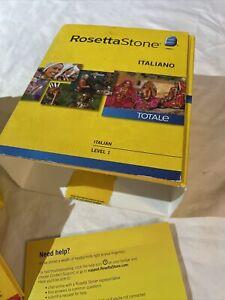 Learn Italian: Rosetta Stone Italian - Level 1  version 4 + headset windows/mac