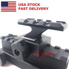 US 3 Slots Top 20mm Picatinny Rail 30mm High Riser Mount  for Rifle Scope Hunt