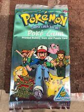1999 POKEMON POKE gum & 1 Puzzle Piece Card Sealed # 2