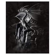 Silver Dragon Signature Collection Plush Queen Size Blanket, 79 by 95 inches