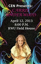 CARRIE UNDERWOOD 2013 RHODE ISLAND CONCERT TOUR POSTER - Country Music Superstar