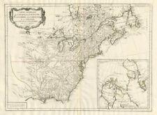 """""""carte générale du Canada, de la Louisiane..."""" Santini/d'anville 1784 OLD MAP"""