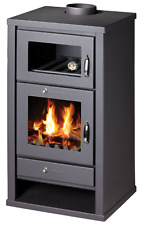 Wood Burning Stove WIth Oven Fireplace Cooker Solid Fuel Log Burner 16 kw