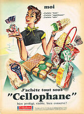 PUBLICITE ADVERTISING 114  1955  CELLLOPHANE  emballage alimentaire