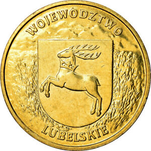[#880147] Coin, Poland, 2 Zlote, 2004, Warsaw, MS(60-62), Brass, KM:514