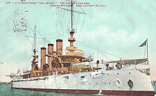 "VIntage Postcard-U.S.Battleship ""New Jersey"" 812 Officers and Men, 435 feet long"