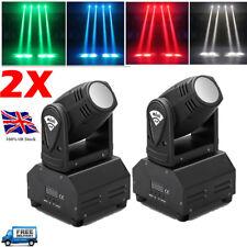 2X 20W Moving Head Stage Light 4 in1 RGBW Cree LED Mini Beam Light DMX512 Disco