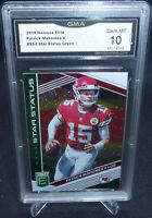 2019 Donruss Elite Patrick Mahomes Star Status Green #SS2 GMA Graded Gem Mint 10