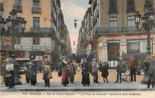 Nantes France c1910 Postcard Sur La Place Royale Le Club du Haricot