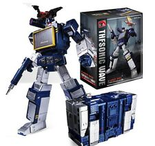 Transformers G1 Style Soundwave & Laserbeak Tape Toy Action Figure New 9 inches