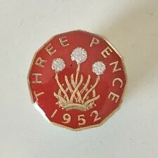 Enamelled 1952 Threepence Coin Golf Ball Marker. 67th Birthday. Handmade gift