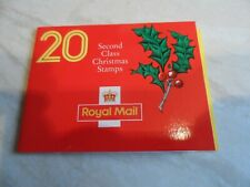 GB 20 2nd class xmas stamps £3.60 20 x 18p 1991