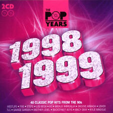 THE POP YEARS 1998 / 1999 NEW SEALED 2CD SET 40 ORIGINAL GREATEST HITS OF 90's