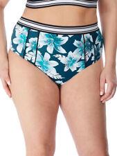 Elomi Island Lily Bikini Briefs 7224 High Leg High Waist Lined Swimwear - Petrol
