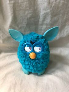 FURBY 2012 Hasbro Interactive Electronic Solid Blue Teal Aqua TESTED & WORKS
