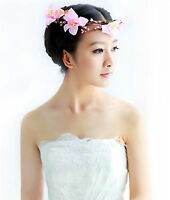 Women Girl Flower Fairy Bohemian Bride Wedding Beach Crown hair headband PROP