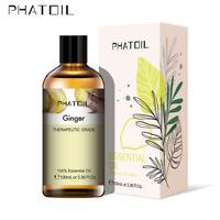 100ML Gingembre 100% Pure Aromathérapie Huiles Essentielles Bio Avec Boite