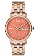 MARC JACOBS MBM8648 WOMEN'S STAINLESS ROSE GOLD / PEACH DIAL / DAY-DATE WATCH