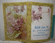 VECCHIO CALENDARIETTO BAZAR PIAZZO TORINO COLLEZIONISMO CARTACEO 1920 CALENDARIO