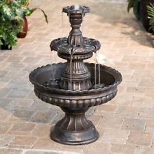 Bronze 3 Tier Outdoor Fountain Water Garden Patio Tall Yard Decor Classic Pump