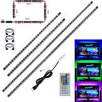 TV LED Backlight 2x50CM+2x100CM USB RGB 5050 Strip Light Remote Kit 5V 30Leds/M