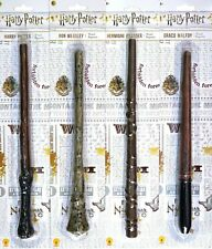 Harry Potter 4 MAGIC WAND SET Ron Hermione Draco Malfoy Toy Costume Wands NEW
