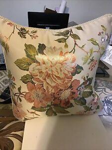 Croscill Carlotta Square Pillow, 18 X 18, New