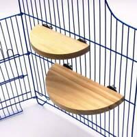 Wooden Squirrel Springboard Parrot Standing Board Bird Jumping Platform Tray BS
