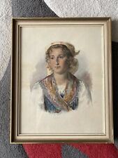 Aquarell Bild Von 1898 - Emilia - Antik - Hinter Glas