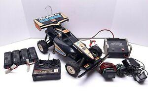 RadioShack Black Phantom Dual Engine 1/10th Scale 4WD RC Buggy **FOR PARTS**