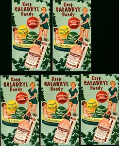 5 -1950 Drug Store Advertising Brochures  Parke Davis & Co CALADRYL Lotion Cream
