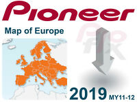 PIONEER AVIC-F30BT F930BT F9310BT F40BT F940BT Software Map Update 2019 Europe